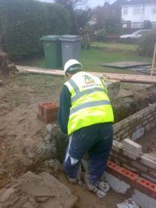 AB BUILDING SERVICES LTD Building new brickwork footings