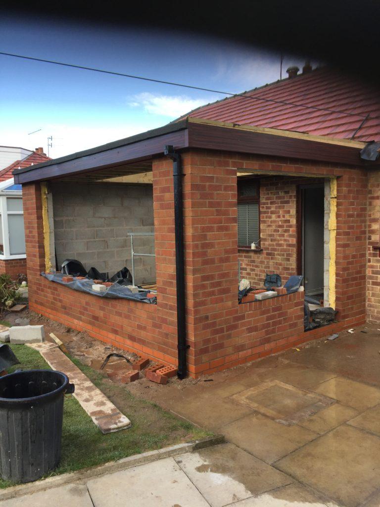 AB BUILDING SERVICES LTD Brickwork extension